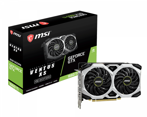 MSI - 6GB GeForce GTX 1660 Ventus XS 6G OC DDR5 128bit