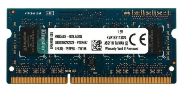 Kingston DDR3 8GB SODIMM 1600Mhz