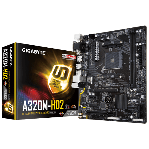 MB Gigabyte AMD AM4 A320M-H