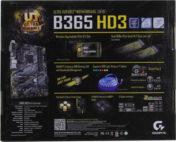 MB GigaByte B365-HD3