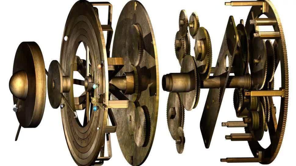 Каждая шестерня в механизме отображает движение небесного тела. Фото: UCL